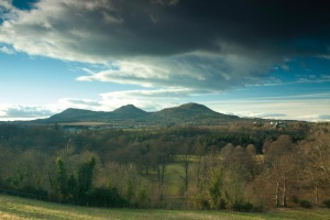 The Eildon Hills near St Boswells